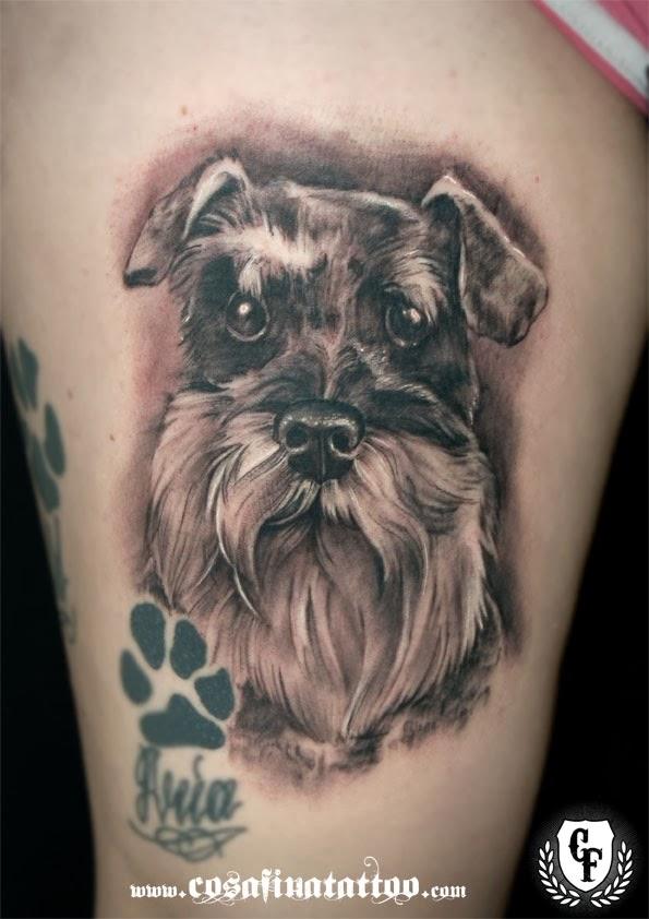 Schnauzer tattoo design