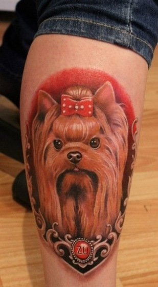 Yorkshire Terrier tattoo design
