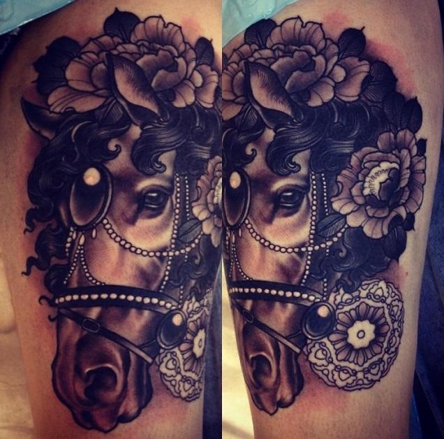 amazing tattoo design horse
