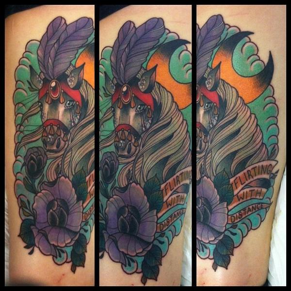 beautiful tattoo color horse