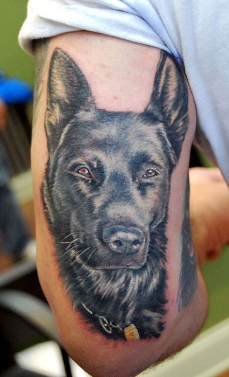 The 15 coolest german shepherd tattoo designs in the world for Tattoo of my dog