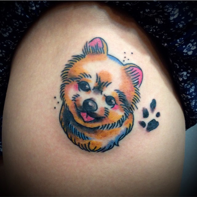 cute pomeranian tattoo pics
