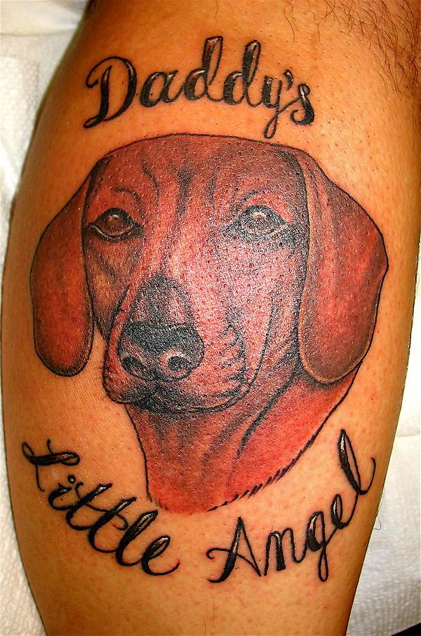 dachshund tattoo angel