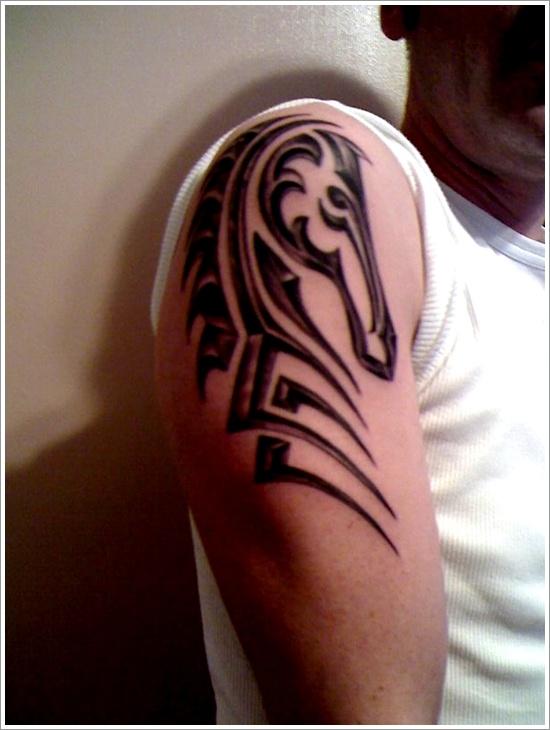 design horse tattoo stylish