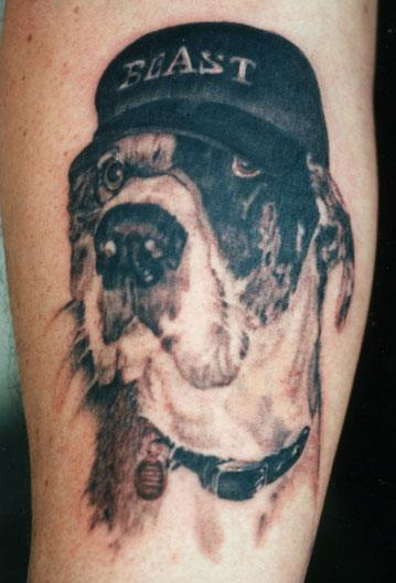 great dane cap tattoo