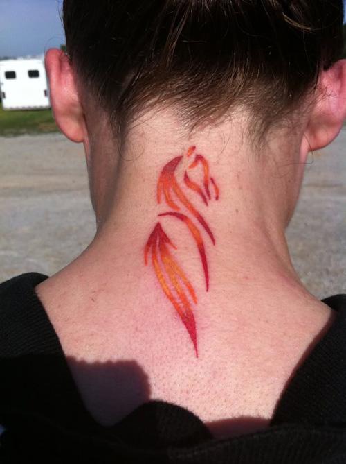 horse neck tattoo