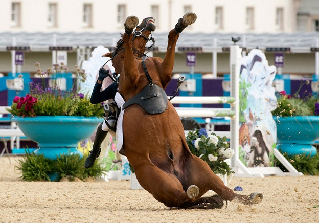 horse riding photo falling funny