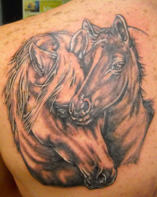 horses-tattoo-on-back faces