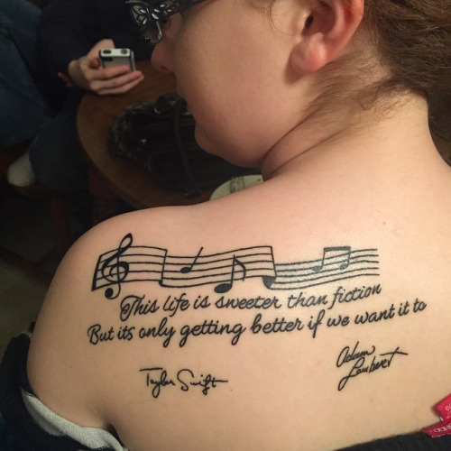 life tattoo back lettering taylor swift