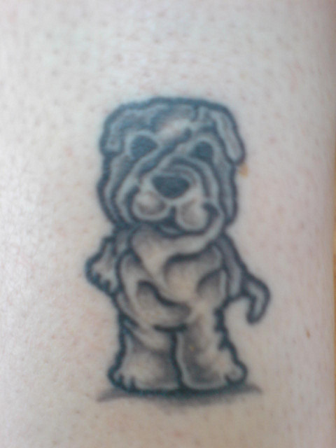 little shar pei tattoo pics