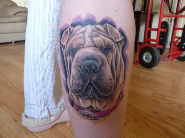 shar pei tattoo