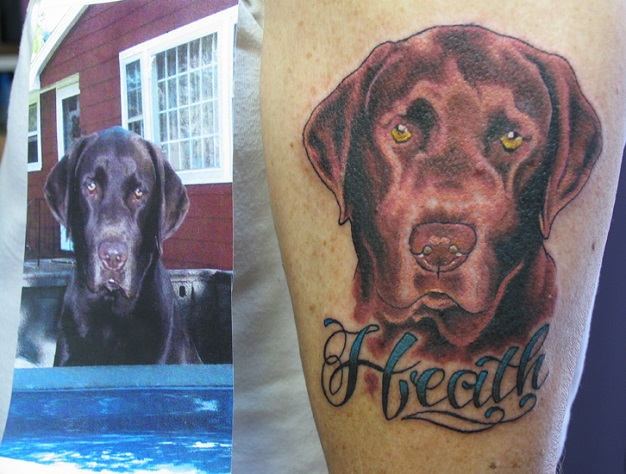 stylish labrador tattoo