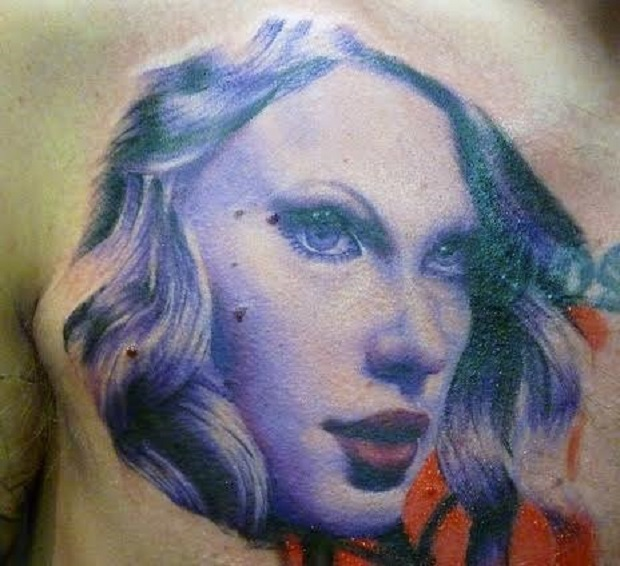 taylor tattoo swift color art