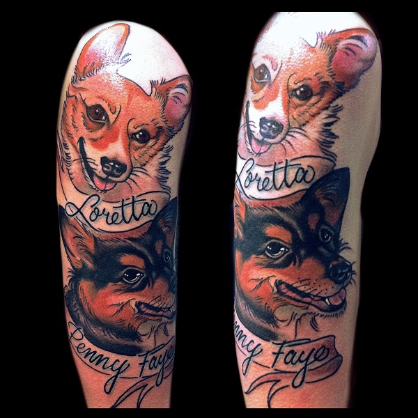 the 15 coolest corgi tattoo designs in the world. Black Bedroom Furniture Sets. Home Design Ideas