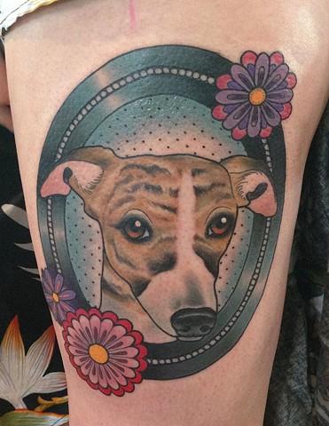whippet tattoo