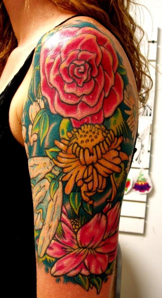 Flower Arm Tattoo Tattoo Ideas