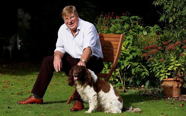 Ed Stourton and his dog