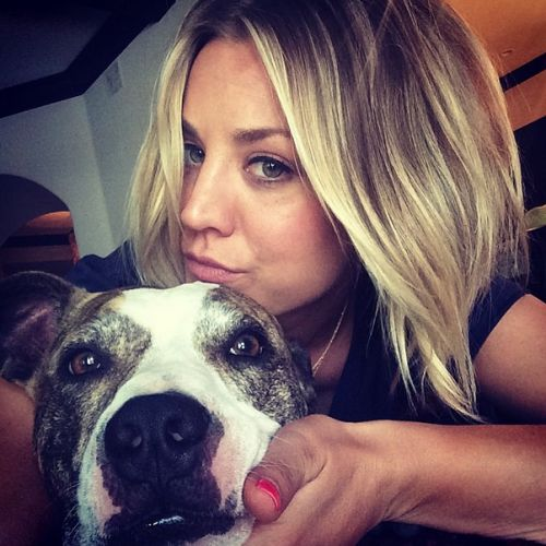 Kaley-Cuoco-staffie