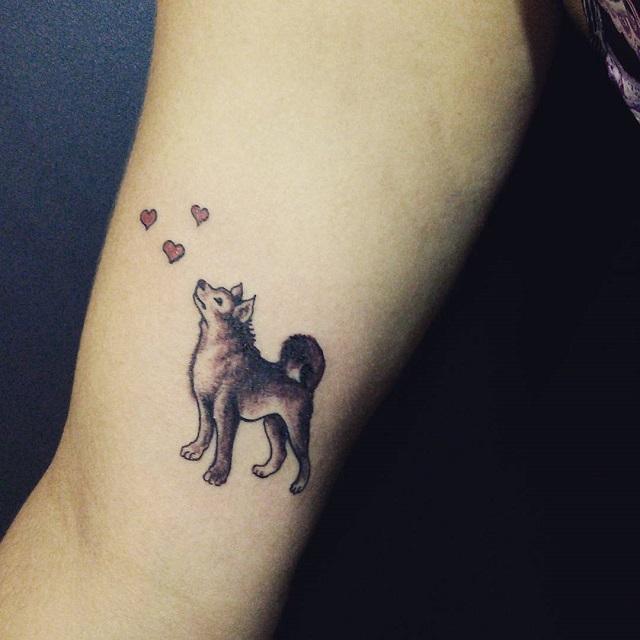 akita dog tattoo