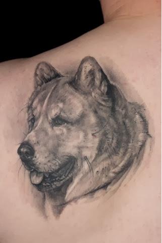 akita inu tattoo design