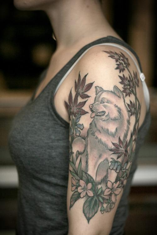 akita inu tattoo pics shoulder