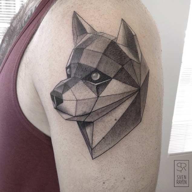 akita tattoo shoulder