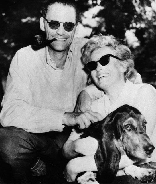 marilyn-monroe-arthur-miller-dog-basset-hound