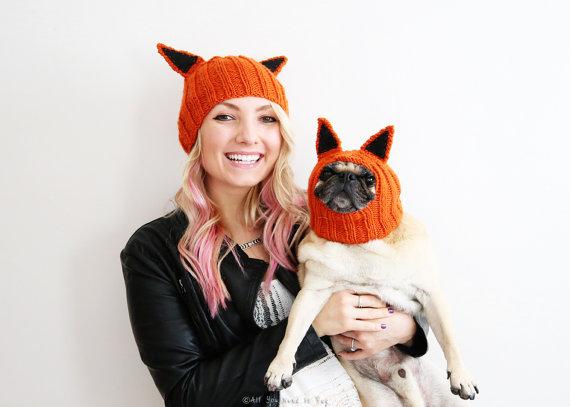 stylish-pug-dog-woman