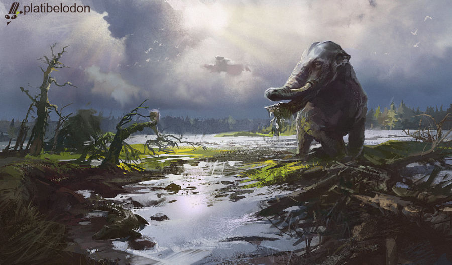 Platybelodon Elephant: Elephant with a Mouth of a Duck 14